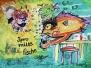 Fische und Gemälde